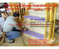 carpet repair, fix, stretch, installation (416)7327636