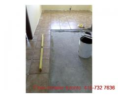 tile installation and repair work